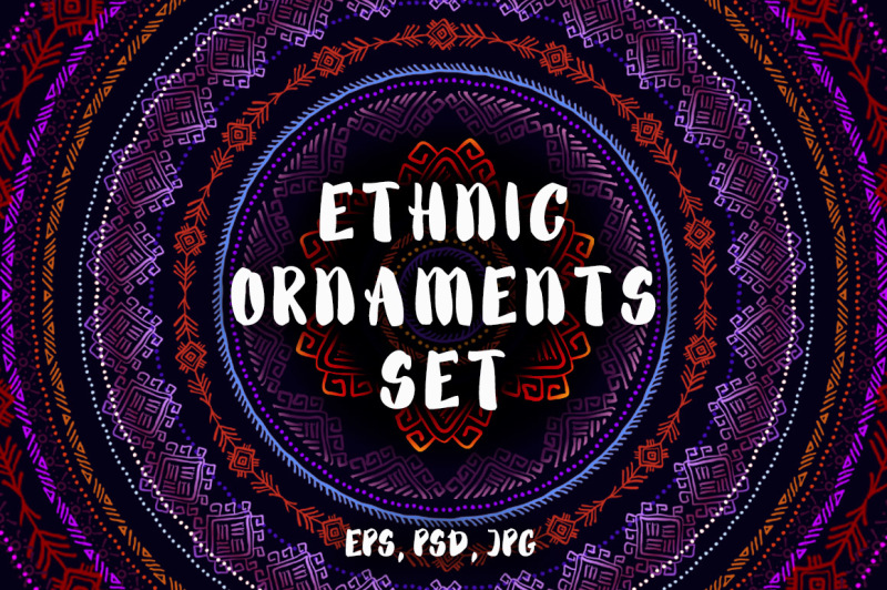 ethnic-ornaments-set