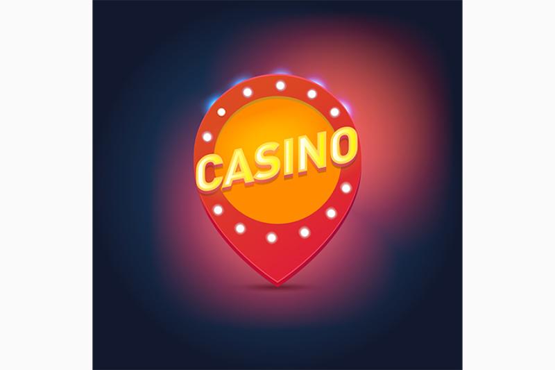shining-retro-light-frame-vector-illustration-on-a-casino-theme-with-lighting-display-on-dark-background