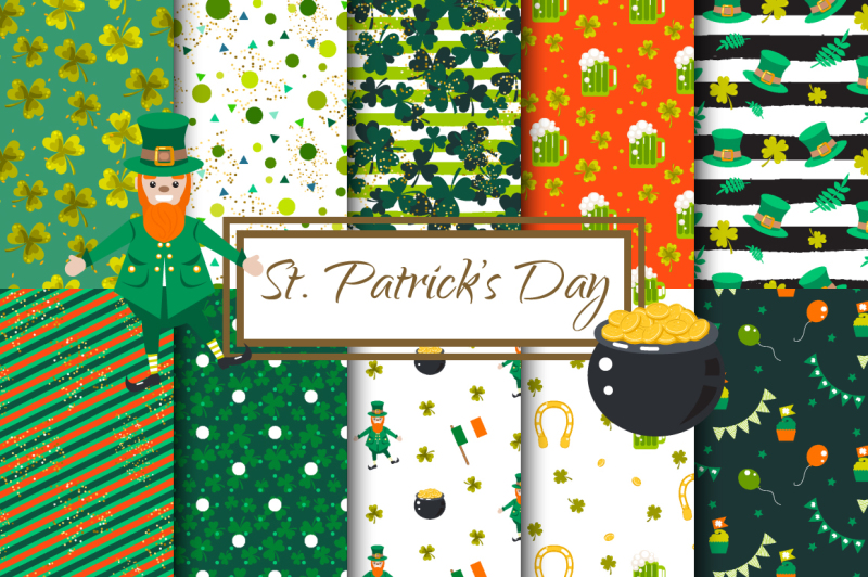 st-patrick-s-day-vector-patterns