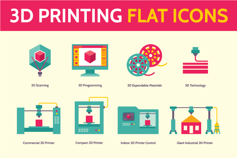 3d-printing-vector-icons-in-flat-style