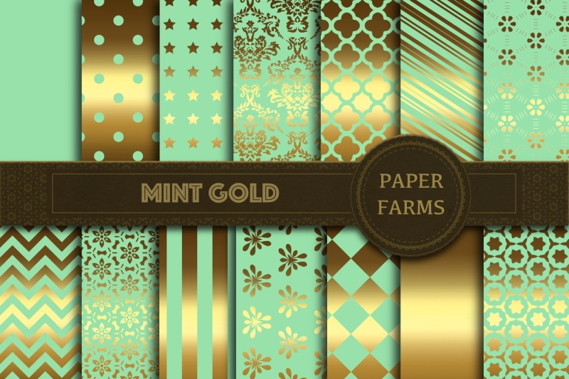 mint-gold-digital-paper