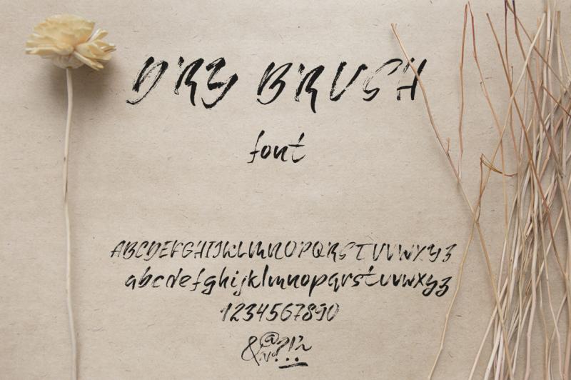 grungy-dry-brush-font