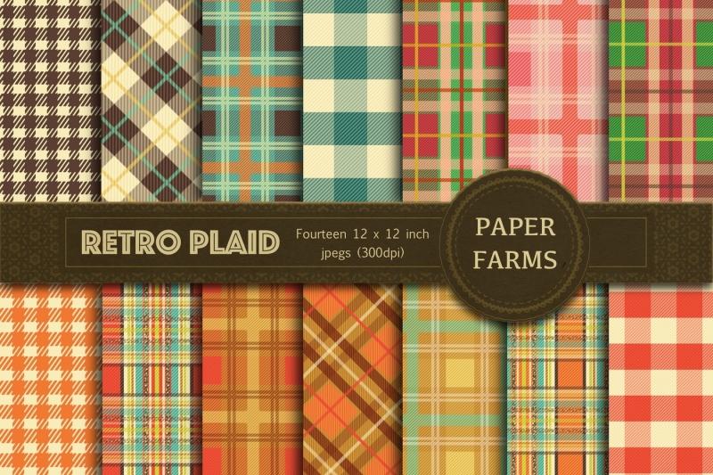 retro-plaid-digital-paper
