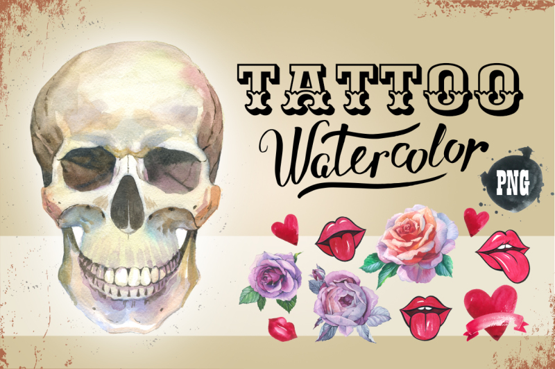 tattoo-png-watercolor-set-skull