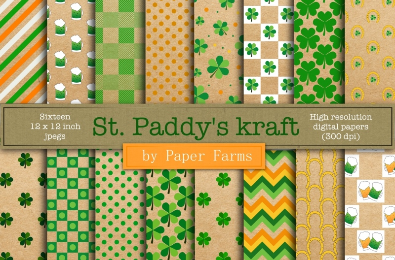 st-patrick-s-day-kraft-digital-paper