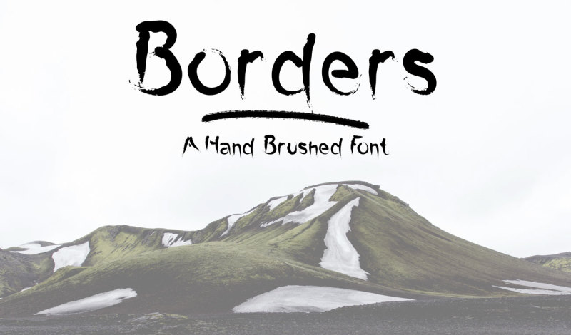 borders-a-hand-brushed-font