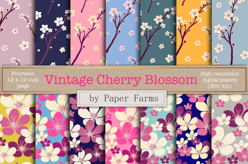 vintage-cherry-blossom-patterns