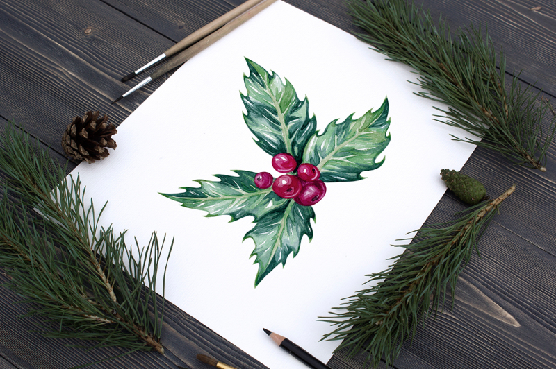 watercolor-holly-illustrations