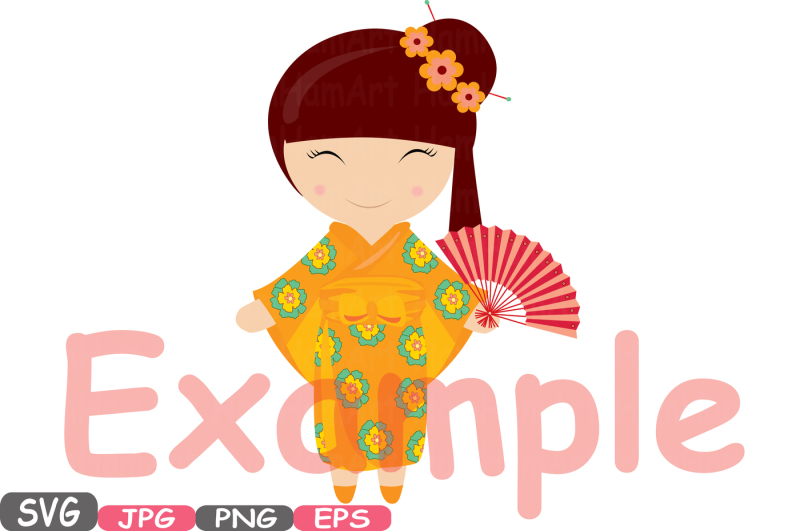 kokeshi-japanese-dolls-cutting-files-svg-china-japanese-silhouette-travel-clipart-clip-art-graphics-personal-commercial-use-224s