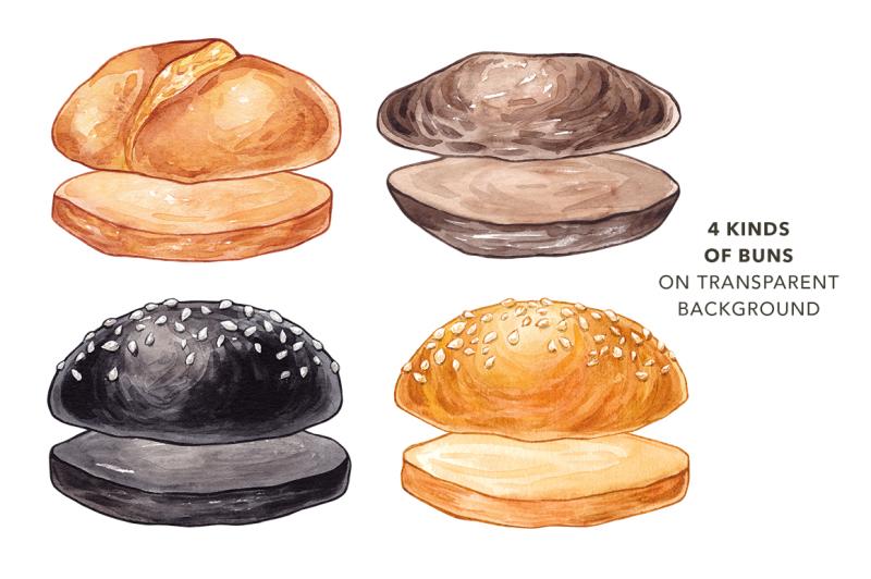 unique-burger-watercolor