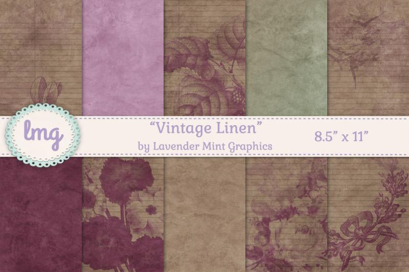 vintage-linen-journal-papers
