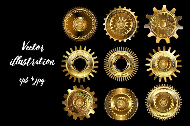set-of-complex-gears-steampunk