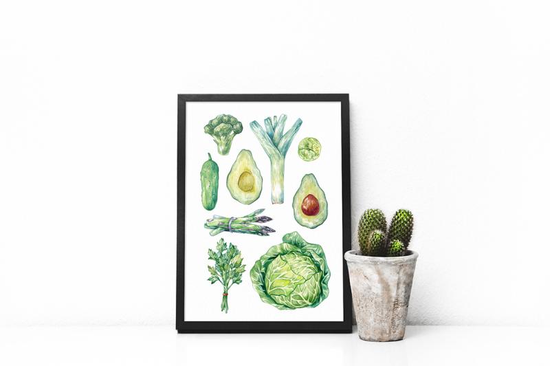 green-vegetables-watercolor-bundle
