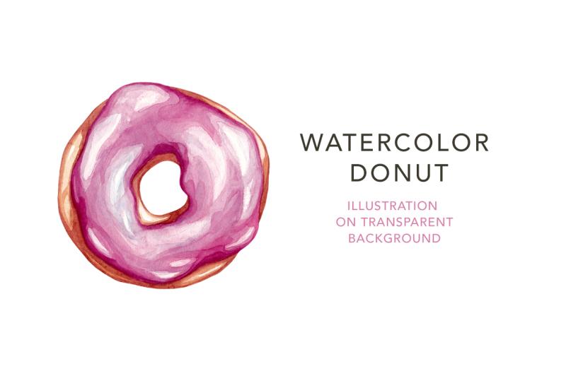 pink-watercolor-donut