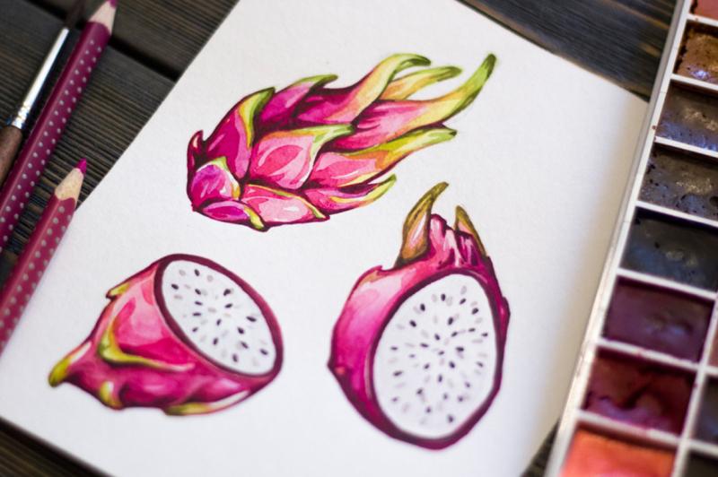 tropical-fruits-watercolor