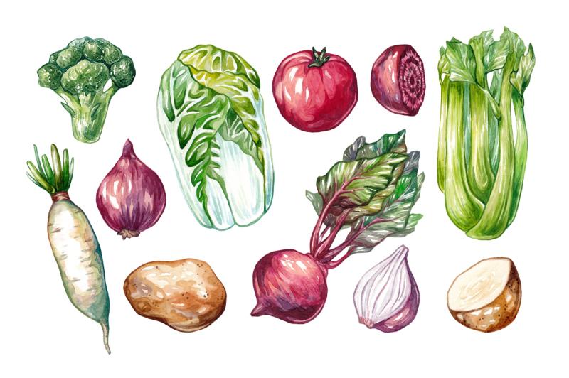 watercolor-vegetables