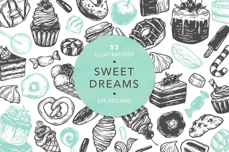 sweet-dreams-vector-set