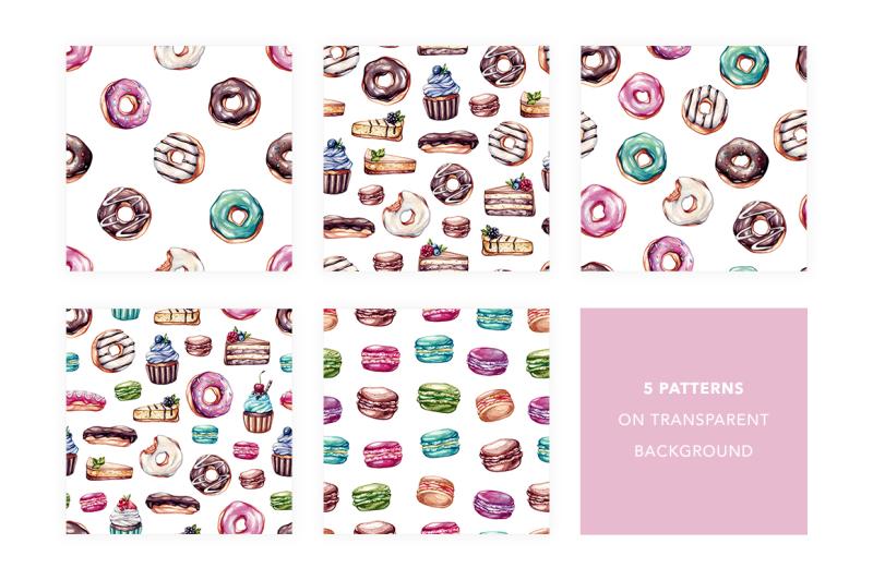 sweet-dreams-watercolor-sweets