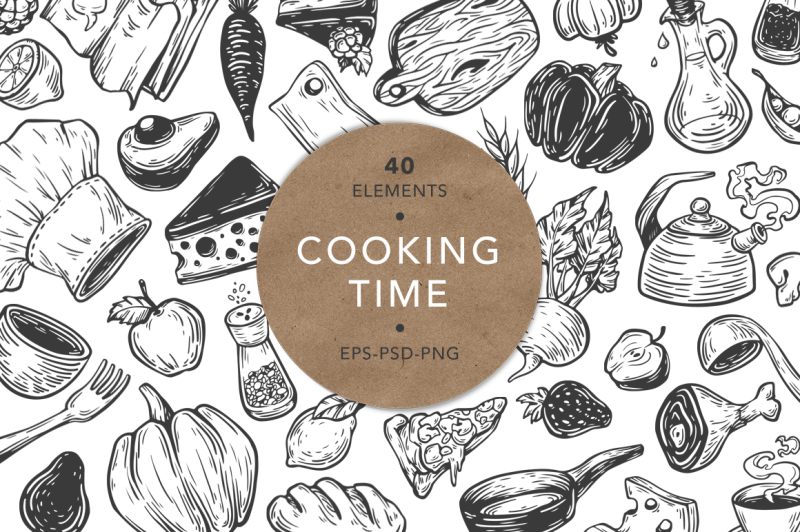 cooking-time-kitchen-illustrations