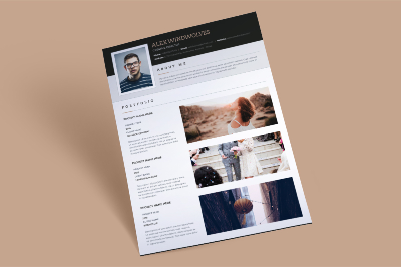 dark-classy-resume-3-pages