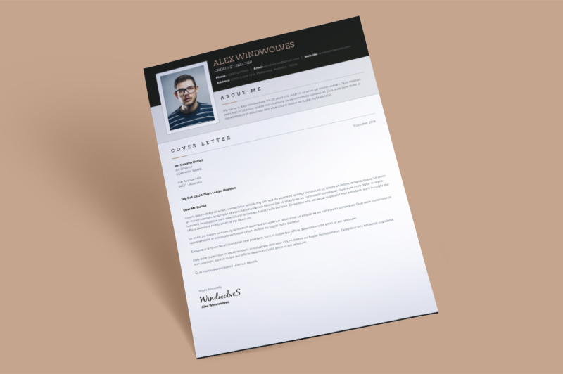 Dark Classy Resume 3 Pages