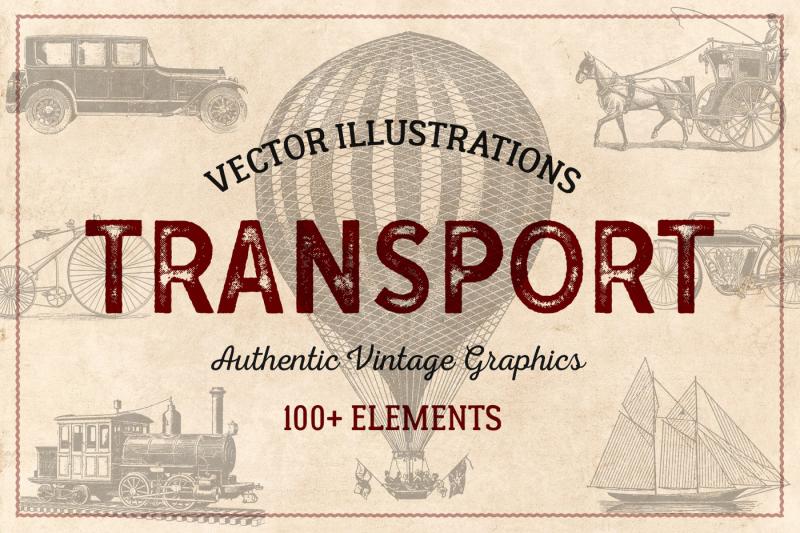 100-vintage-vehicles-vector