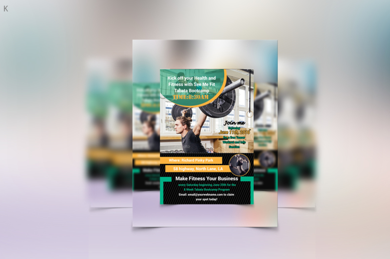 fitness-template-flyer