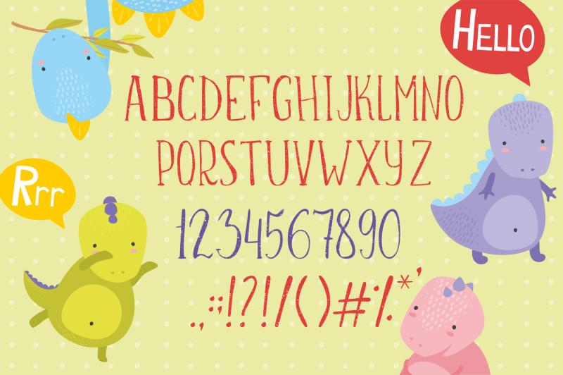 sunny-dino-font