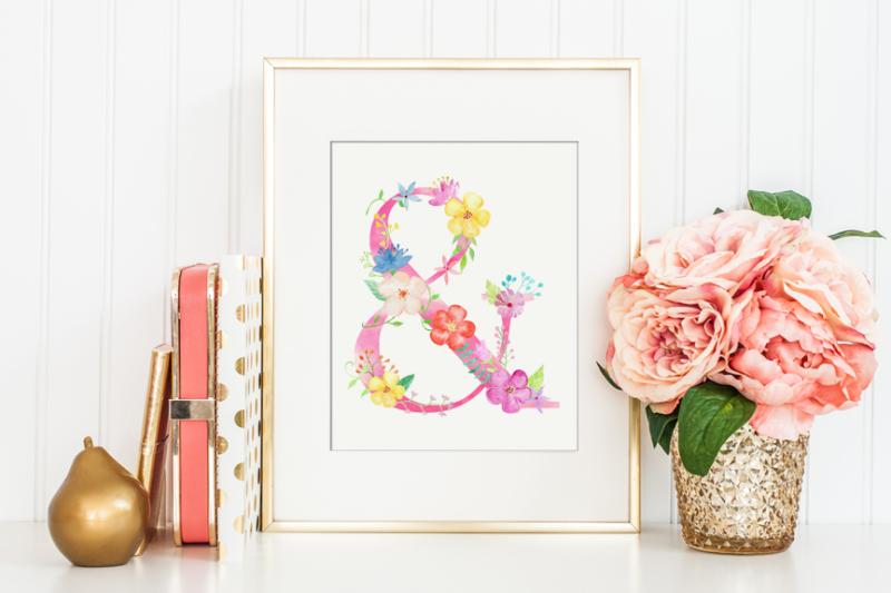 pink-floral-alphabet