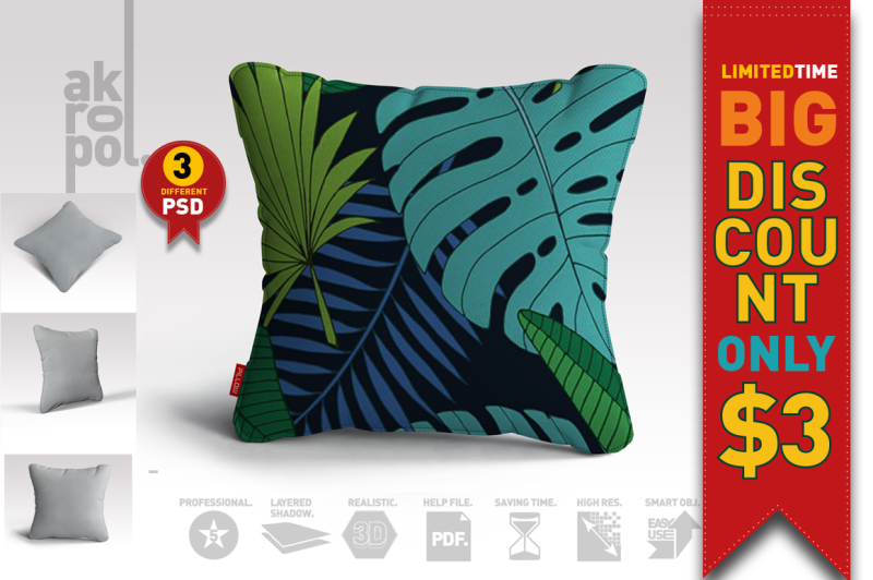 Free Pillow Mock up (PSD Mockups)