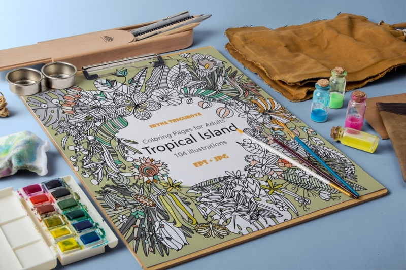 tropical-coloring-pages-for-adults