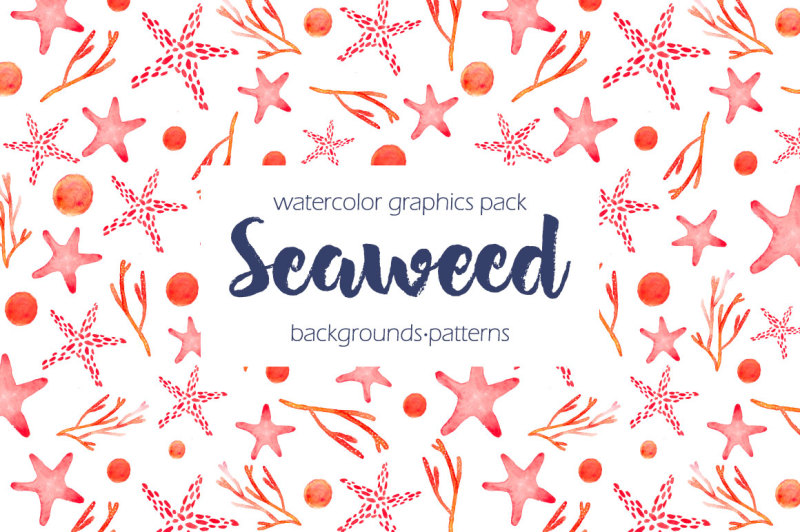 seaweed-watercolor-collection