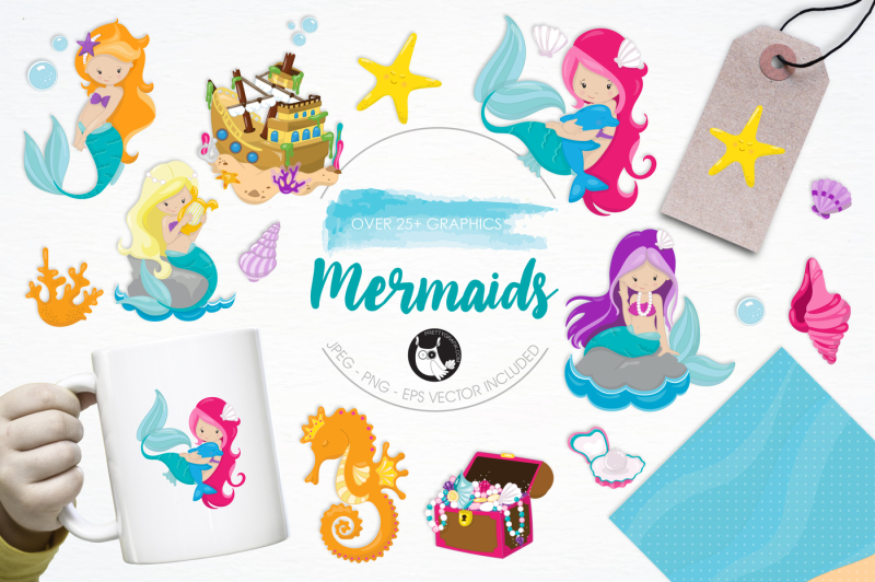 mermaids-graphics-and-illustrations