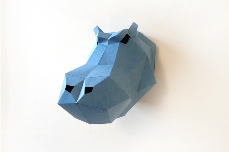 diy-hippo-head-trophy-3d-papercrafts