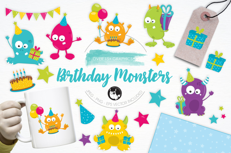 birthday-monsters-graphics-and-illustrations