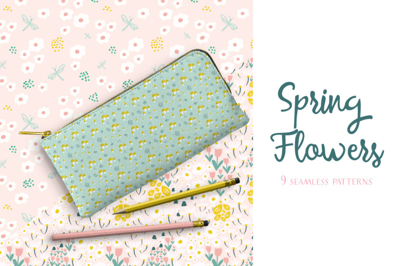 spring-flowers-pattern-collection