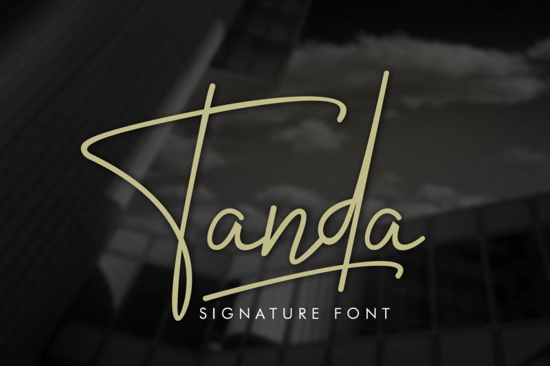 tanda-signature-font