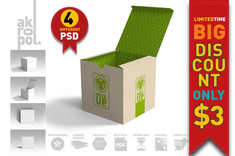Free Package Box Mockups (PSD Mockups)