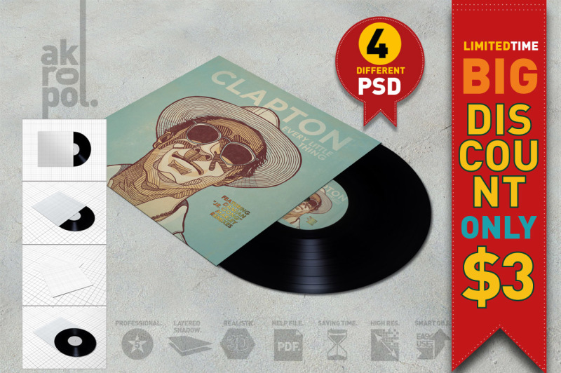 Download Vinyl Record Mock-Up Free Mockups