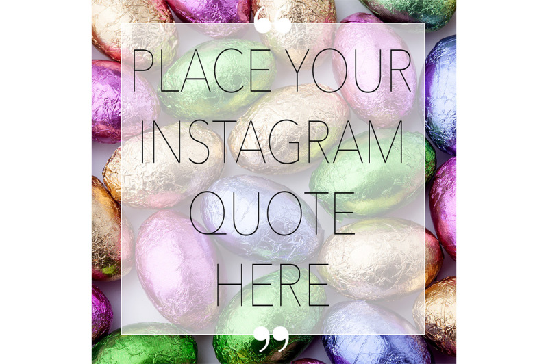 Free Easter Styled Instagram Mockup (PSD Mockups)