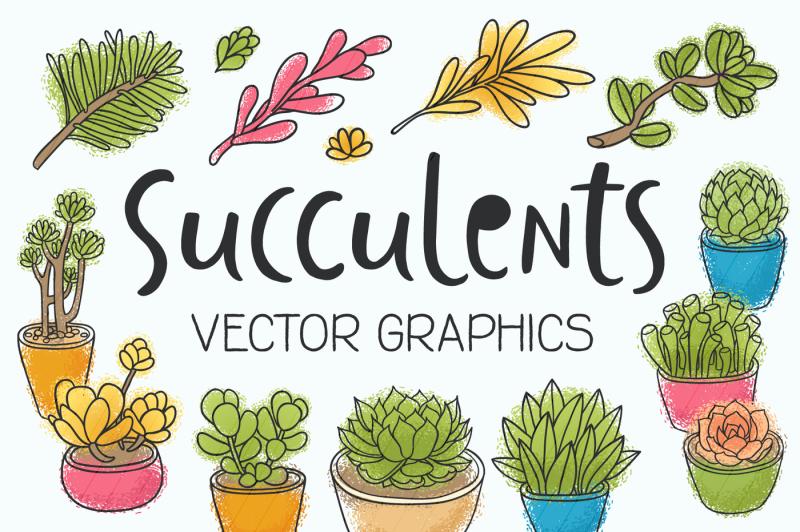 succulents-14-vector-illustrations