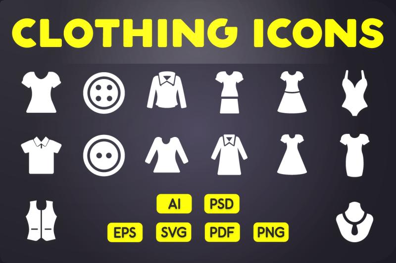 glyph-icon-clothing-icons-vol-2