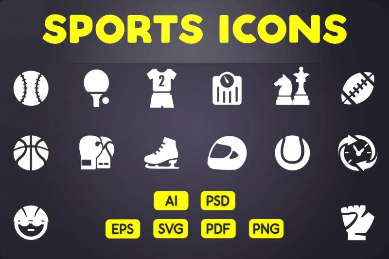 glyph-icon-sports-icons-vol-1
