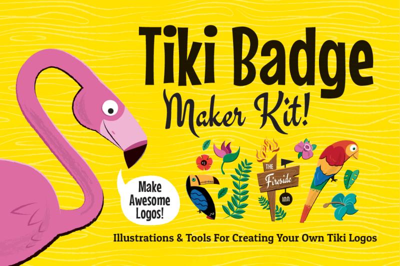 tiki-logos-and-badge-maker-kit
