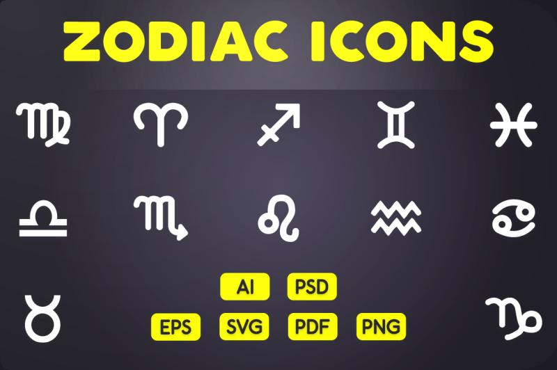 glyph-icon-zodiac-icons
