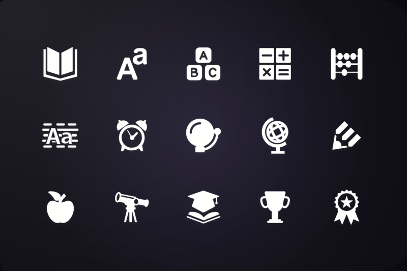 glyph-icon-education-icons-vol-1