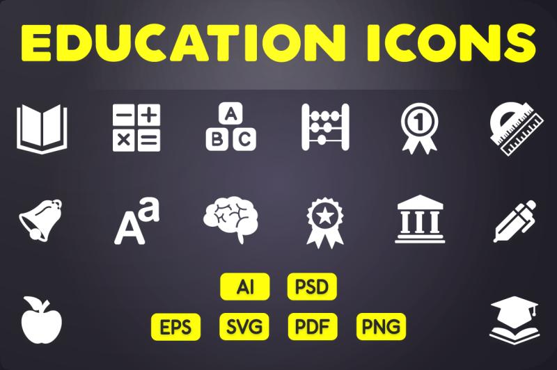 glyph-icon-education-icons-vol-1