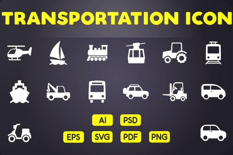glyph-icon-transportation-icons