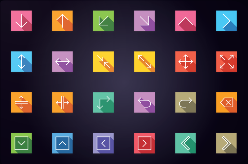 user-interface-and-arrows-flat-icons