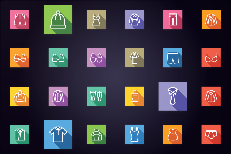 clothes-and-fashion-accessories-icons